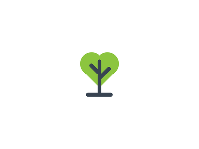 Nature love  |  the one for life future growth illustraion branding geometry mark minimal logo care love earth wild outdoors valentines day sustainable green nature enviroment heart