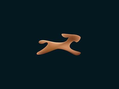 Dog design illustration branding geometry icon minimal mark logo friend pet k9 abstract soft animal speed movement dynamic running motion fluid