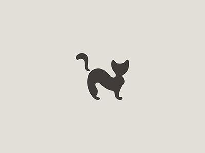 Cat silhouette animal minimal cat