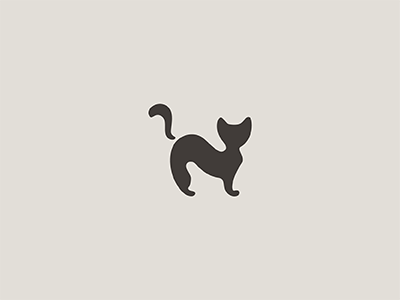 Cat silhouette animal minimal cat