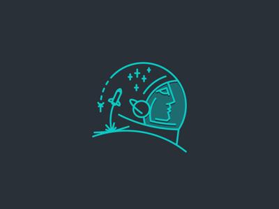 Flying Dreams dreams helmet rocket cosmos stars spaceman space astronaut