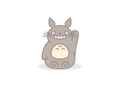Totoro minimal icon miyazaki ghibli studio totoro