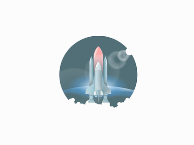 Columbia lenseflare logo icon badge earth sun spaceshuttle space columbia
