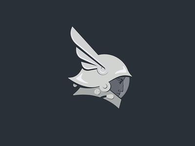 Hermes logo icon mark character face cosmos astronaut spaceman helmet space mercury