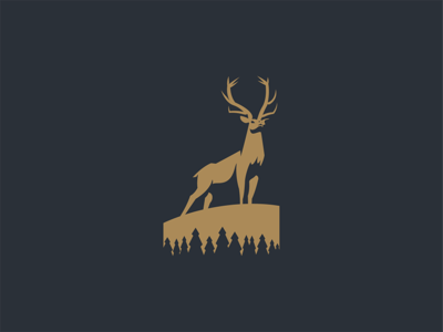Elk business stag animal mark icon logo negativespace adventure pines freedom deer elk