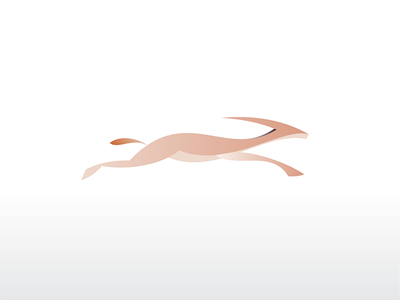 Gazelle icon mark logo gradient fast speed running dynamic africa animal gazelle