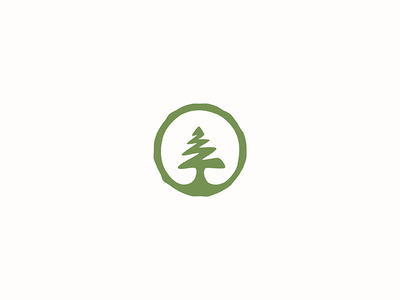 The Cedar Gate icon logo adventure seal nature circle tree cedar