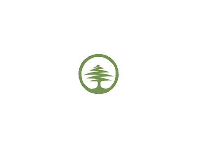 Cedar business tree seal nature logo icon circle cedar adventure
