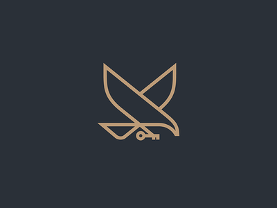 Eagle  wings business logo minimal key line lineart bird fly eagle