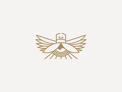 Scarab rays mark logo line wings fly egypt sun eye bug beetle scarab