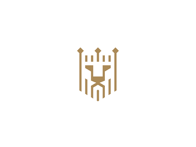 Lion logo geometry face crown head lineart lion