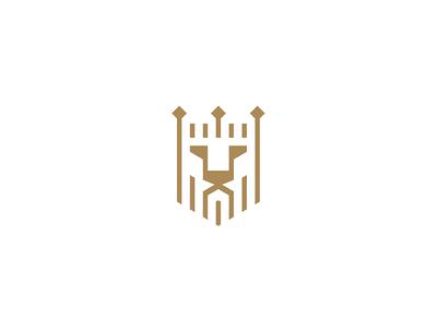 Lion logo geometry face crown head lineart lion
