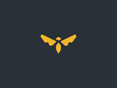 A Bee stinger fighterjet airforce flying honey logo wings insect bee