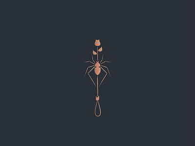 Formula black grit line copper rope rose spider formula