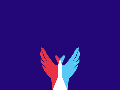 Dove gesture peace freedom bird cellophane wings hands dove