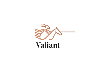 Valiant typography typeface font heraldry valiant line charge horse knight