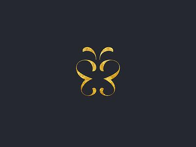 Butterfly butterfly delicate papillon luxury elegant wings mark minimal icon logo