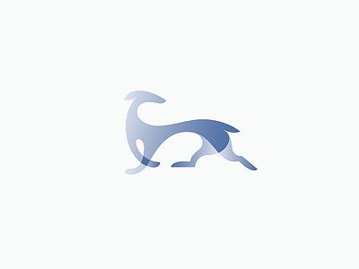 Greyhound movement dog animal design mark logo