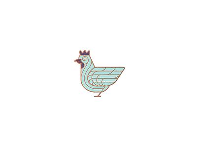 Chicken rooster chicken branding vector illustration wings bird design animal icon minimal mark logo