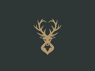 Wildhearts deer elk heart antlers illustration design icon animal mark minimal logo