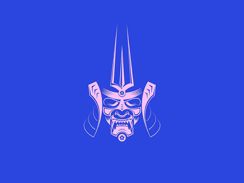 Mempo Kabuto illustration helmet armor samurai warrior japan face