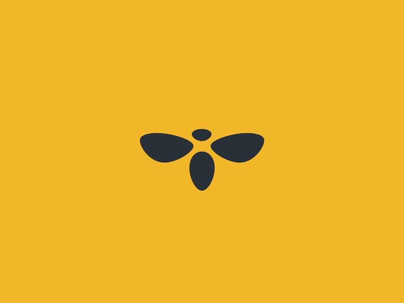 Bee hive insect comb honey branding wings illustration design geometry animal icon mark minimal logo