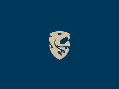 Lion abstract flame mane roar coat of arms shield modernheralsdry heraldy minimal animal icon branding logo illustration