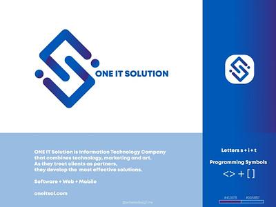 ONE IT Solution illustrator antares design logo branding logo