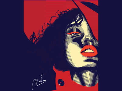 maria painting illustrator branding brand identity digital painting illustration best illustration art digitalart digital illustration design