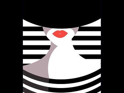 pretty maria in white animation black and white art line minimalist best illustrators illustrators motion graphics master piece art work graphic design ui logo branding best illustration illustration digital painting digital illustration digitalart design art