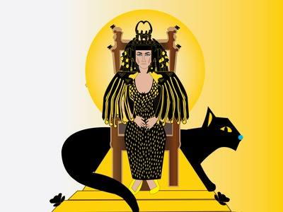 Cleoptra hollywood cleopatra artwork vector art vector illustration illustration art