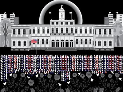 NY City hall nyc blacklivesmatter vector art vector illustration illustration