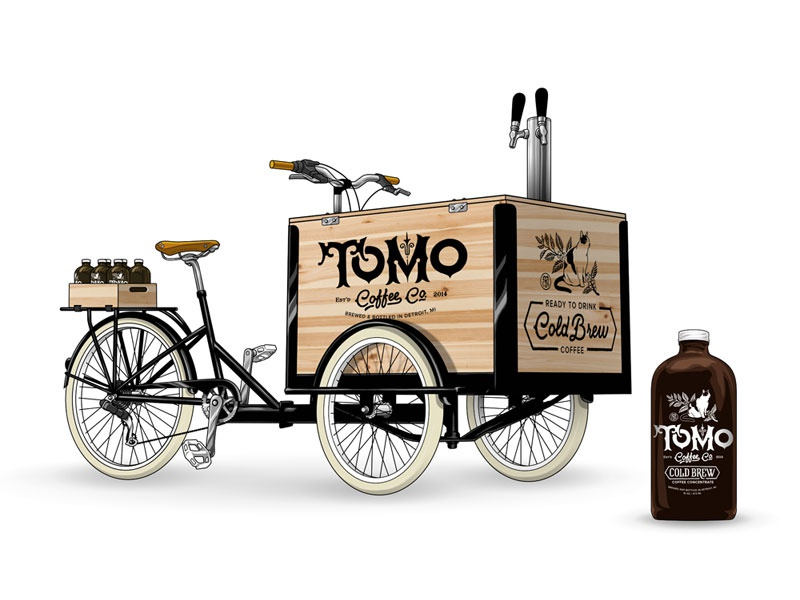 Tomo Cold Brew Bike Cart By Wesley Eggebrecht