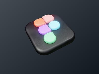 Figma logo 3d branding ui figma blender 3d icon illustration vector logo design