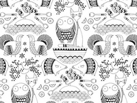 The Owl and the Pussycat - repeat pattern