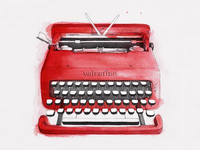 Typewriter - Valentine