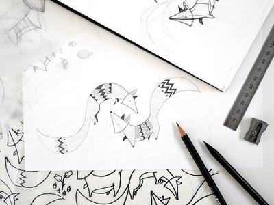 Winter Fox - sketch