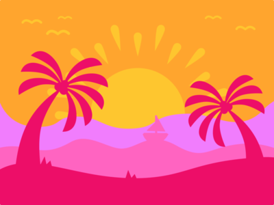 Seaside Sunset | Color Wars color palette color wars scratch cool art inkscape design vector