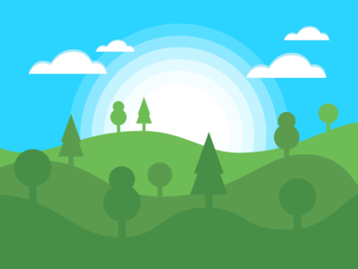 Green Hills green random illustration art landscape inkscape design vector