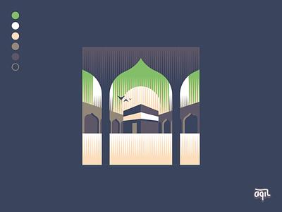 The Kaaba aqil illustration art vector inkscape design