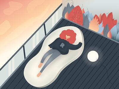 Relaxation relaxing beginner illustration