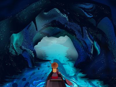 Ice cave vector art illustration digital art art illustrations vector