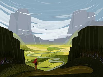 Landscape vectors montain nature landscape artwork artist art illustraion vectorart digitalart