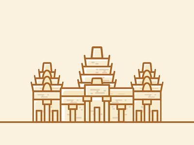 Angkor Wat siem reap cambodia angkor wat travel bucketlist wanderlust illustration