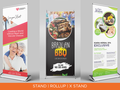Stand Banner & Rollup Banner Design simple banne banner design high quality pull up banner wall banner yard sign street sign outdoor sign stand banner roll up banner banner ads