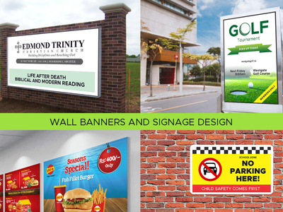 Wall Banner & Sign Board Design office banner event banner high quality yard sign church sign parking sign wall design wall banner x stand banner stand banner rollup banner banner ads banner design outdoor banner