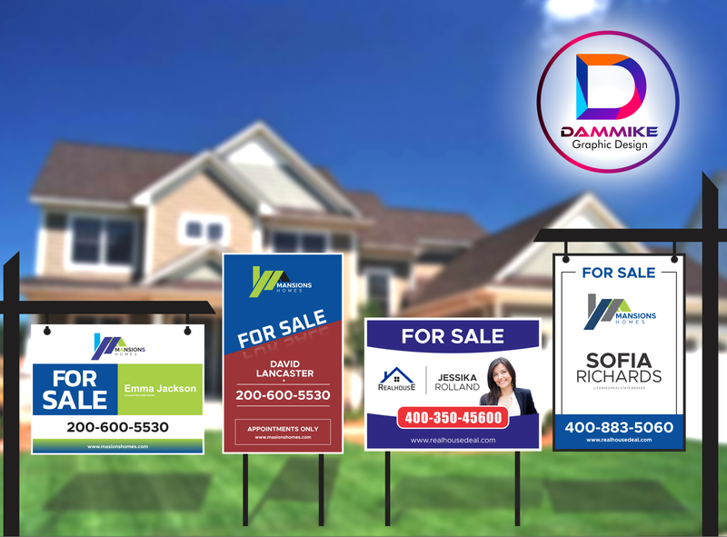Real Estate Yard Sign Design banner ad print banner event yard sign party yard sign open house broker house sale yard sign yard banner real estate yard design real estate