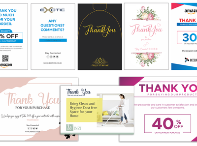 Package Insert, Product Insert card voucher gift card thank you card review card product insert package insert
