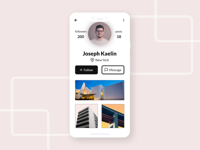 profile page UI daily ui 006 profile design profile profile page interface dailyui mobile app app design ui minimal flat design inspiration 2020