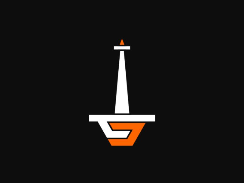 TJ inkscape ff6600 orange logogram art logo monument transjakarta monas jakarta tugu tj